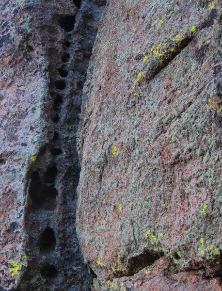 Some Mt. Elden pockets found on a boulder problem...