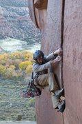 Rock Climbing Photo: big baby, indian creek (no tape?!!)