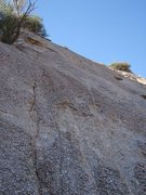 Rock Climbing Photo: First two coffin nail bolts can be viewed ...