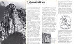 Rock Climbing Photo: A Clean Grade Six- article by Bruce Carson in Moun...