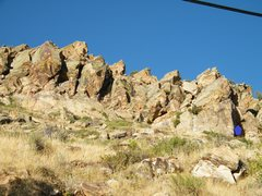 Rock Climbing Photo: Z Shaped Route that is about 100-150 feet north of...