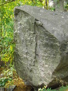Rock Climbing Photo: This boulder is also above the slant boulder field...