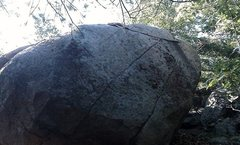 Rock Climbing Photo: Slab side of Stone Tower Boulder.