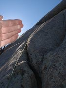 Rock Climbing Photo: The beautiful second pitch.