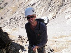 Rock Climbing Photo: Adam on his first rappel from the start of The Pro...