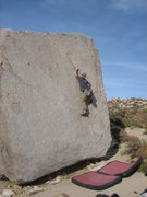 Rock Climbing Photo: Midway up a classic highball.