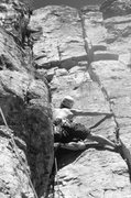 Rock Climbing Photo: Leading an unknown route.  Photo credit: Sam Lange...