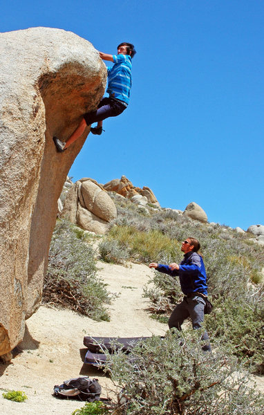 Rock Climbing Photo: Andrew Thomas committing to 'Grovel Roof'