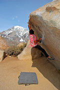 Rock Climbing Photo: Andrew Thomas using the heel and making it look ea...