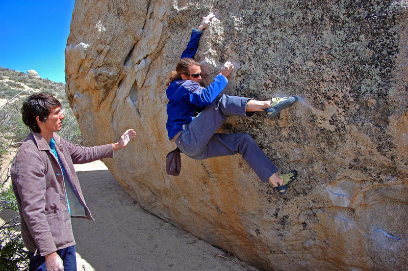 Rock Climbing Photo: Jeremy Freeman on the last sequence of 'Milk the M...