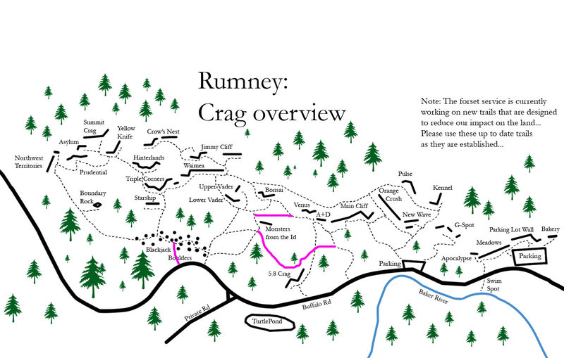 Rock Climbing Photo: this is an updated trail map... the pink trail are...