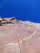 Rock Climbing Photo: View of second pitch, you can see where you have t...