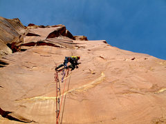 Rock Climbing Photo: James working the second pitch.