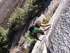 Rock Climbing Photo: Pitch 1. ESB.