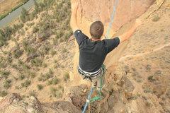 Rock Climbing Photo: Jesse walking the line. He sent the monkey line on...