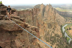 Rock Climbing Photo: Monkey line slacklining.