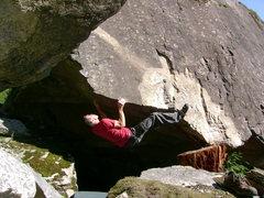 Rock Climbing Photo: Into the crux