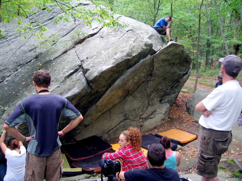 Rock Climbing Photo: busy day at lincoln woods