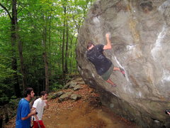 Rock Climbing Photo: Chris figuring out his crazy foot beta on Neil's L...