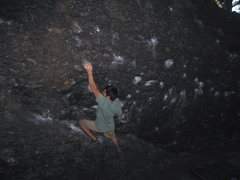Rock Climbing Photo: Alex at the Alcove, Hammond Pond.