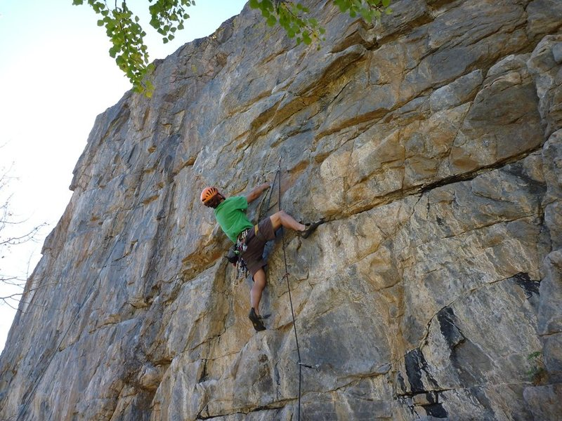 Rock Climbing Photo: About to enter the crux on Don't Drag the Dog (woo...