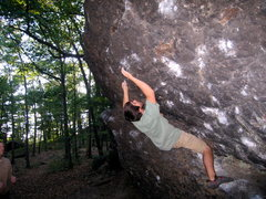 Rock Climbing Photo: Alex cruising a problem at the Alcove.