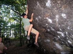 Rock Climbing Photo: Hitting the jug at the Alcove.