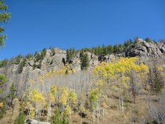 Rock Climbing Photo: View of the cliffs from the Hornsilver Campground.