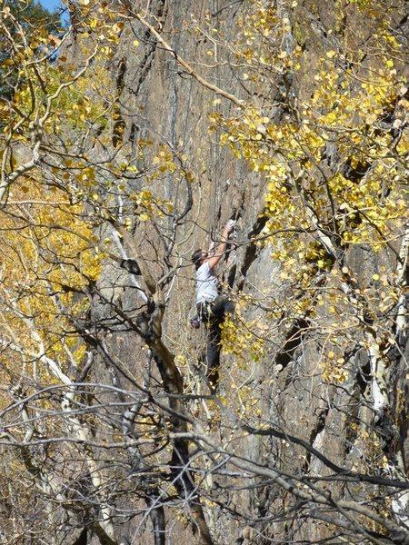 Rock Climbing Photo: My wife climbing Saturn Uranus.