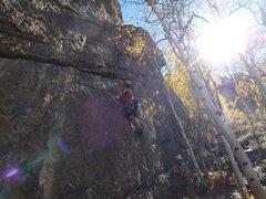 Rock Climbing Photo: Leading Bomba Chute.