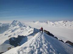 Rock Climbing Photo: Meteor peak maclairen glacier