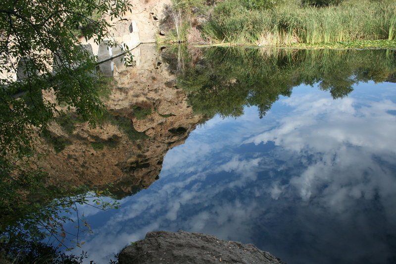 Rock Climbing Photo: Some nice reflections on the lake today. 10-2-10