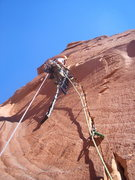 Rock Climbing Photo: Pitch three