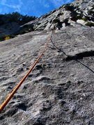 Rock Climbing Photo: The 5.8 pitch of Urban Bypass that links back up w...