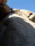 Rock Climbing Photo: A cam placement before stepping up through the V o...