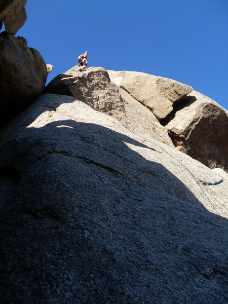 Rock Climbing Photo: Excellent exposure makes this a really fun route, ...