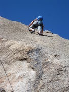 Rock Climbing Photo: The true technical crux--smears for the feet and n...