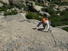 Rock Climbing Photo: Open-handed climbing.