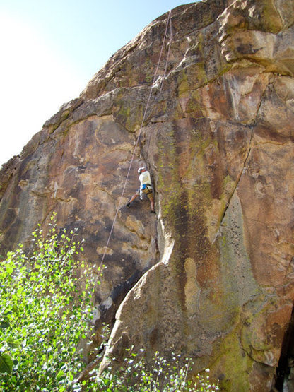 Rock Climbing Photo: Glenn Schuler walks right up.