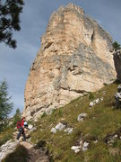 Rock Climbing Photo: The Southeast Face above the Rifugio