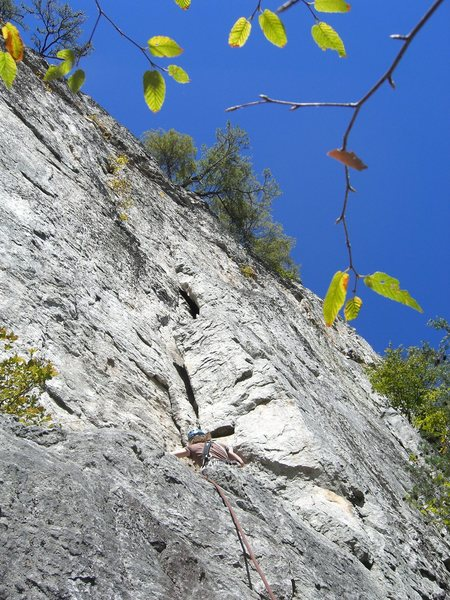 Rock Climbing Photo: Start of the first pitch of Soler.
