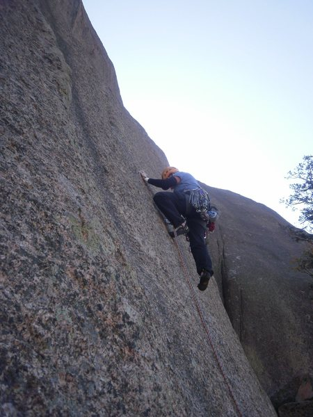 Rock Climbing Photo: At the 1st bolt, regular start.