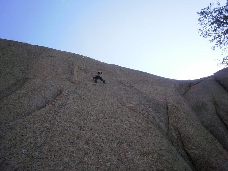 Rock Climbing Photo: Crux of regular start.