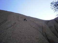 Rock Climbing Photo: Crux of regular start.