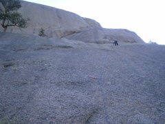 Rock Climbing Photo: Right by the anchor.  Walk left from here to reach...
