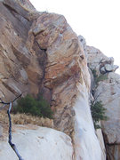 Rock Climbing Photo: Double Dragon Arete starts where the orange and gr...