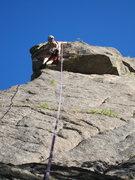 Rock Climbing Photo: Tim Davis winds to follow the bulging crux of Full...