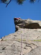 Rock Climbing Photo: Tim Davis finishes off the bulging thin crux of Fu...
