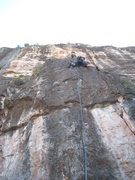 Rock Climbing Photo: Just above the crux of Pincher.