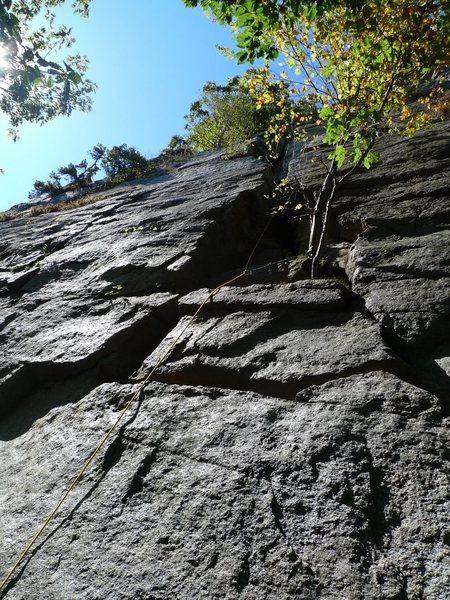 Rock Climbing Photo: P1 of Easy O